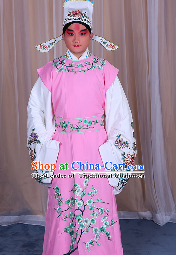 Ancient Chinese Young Scholar Beijing Opera Costumes Peking Opera Costume and Hat Complete Set for Men