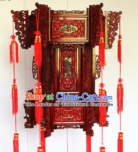 Three Layers Red Chinese Classical Hanging Palace Lantern