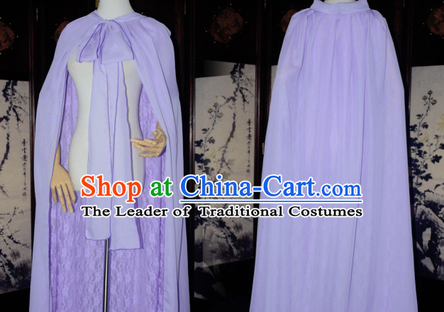 Light Purple Traditional Chinese Classical Mantle Cape