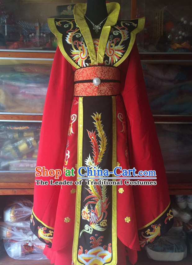 Ancient Chinese Opera Embroidered Empress Costumes Complete Set for Women