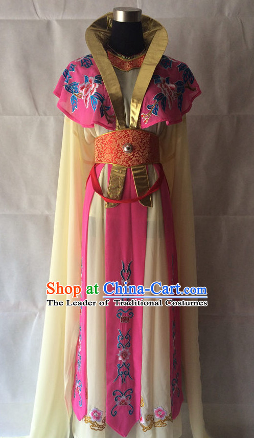 Ancient Chinese Opera Embroidered Water Sleeve Costumes Complete Set for Women