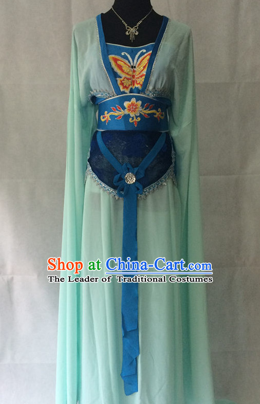 Ancient Chinese Opera Embroidered Water Sleeve Butterfly Costumes Complete Set for Women