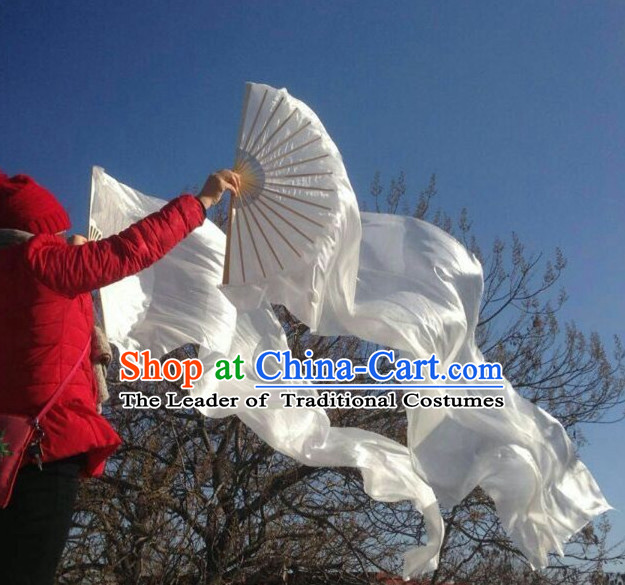 1.5 Meters Pure White Long Silk Dance Ribbons