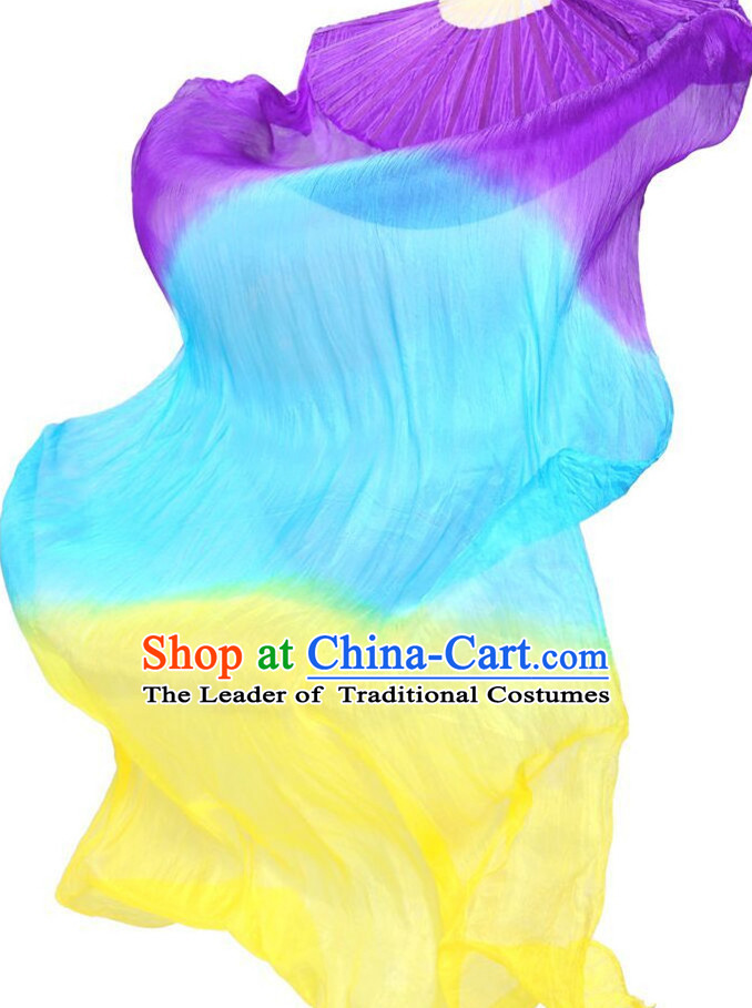 1.5 Meters Long Color Changing Silk Dancing Streamers