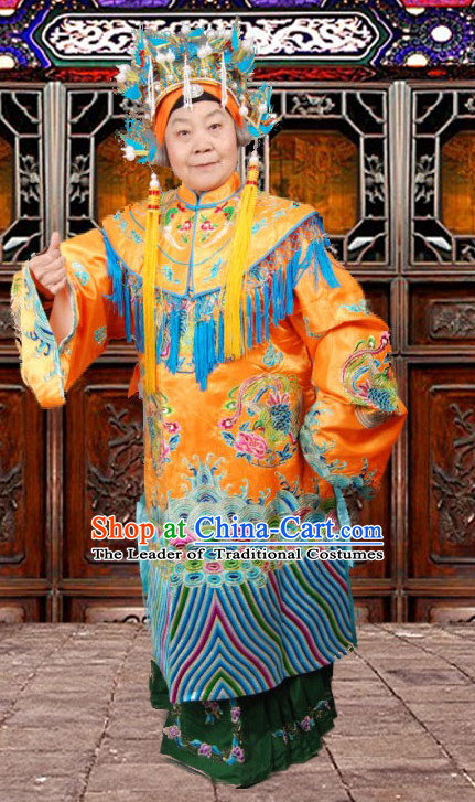 Ancient Chinese Opera Hua Dan Empress Costumes and Headpieces Complete Set for Women