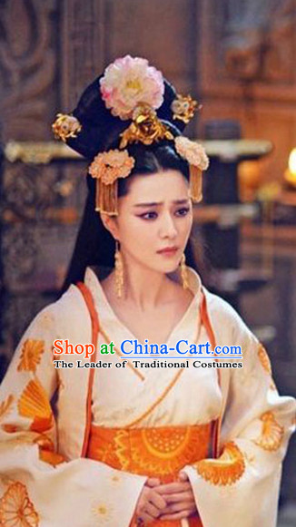 Chinese Wedding Bridal Hair Accessories Headwear Headdress Hair Accessory Hair Jewelry and Necklace Earrings Set for Women or Girls