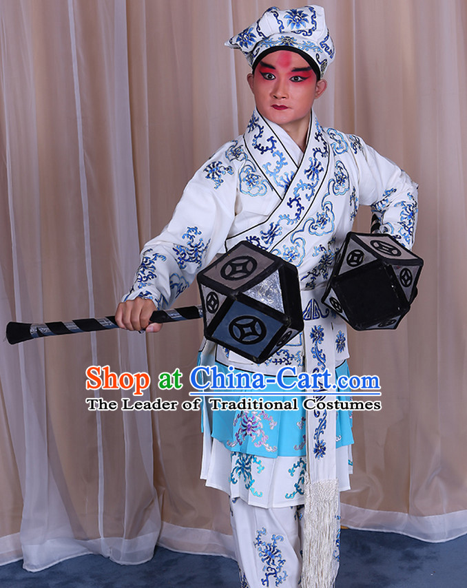 Top Embroidered Chinese Classic Peking Opera Wusheng Costume Beijing Opera Wu Sheng Costumes Complete Set for Adults Kids Men Boys