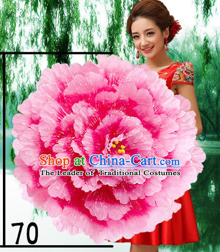 27.5 Inches Professional Stage Performance Peony Flower Umbrella
