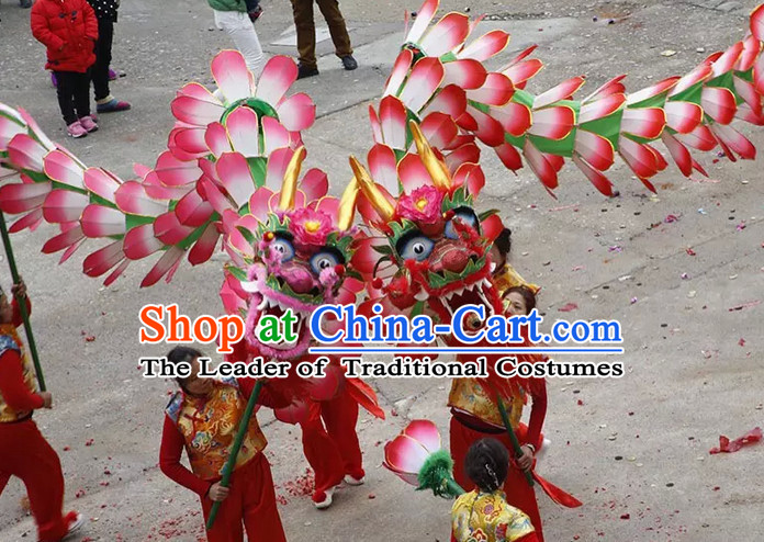 Bai Ye Long Hundreds of Flower Leaf Dragon Dance Costume Complete Set for Women