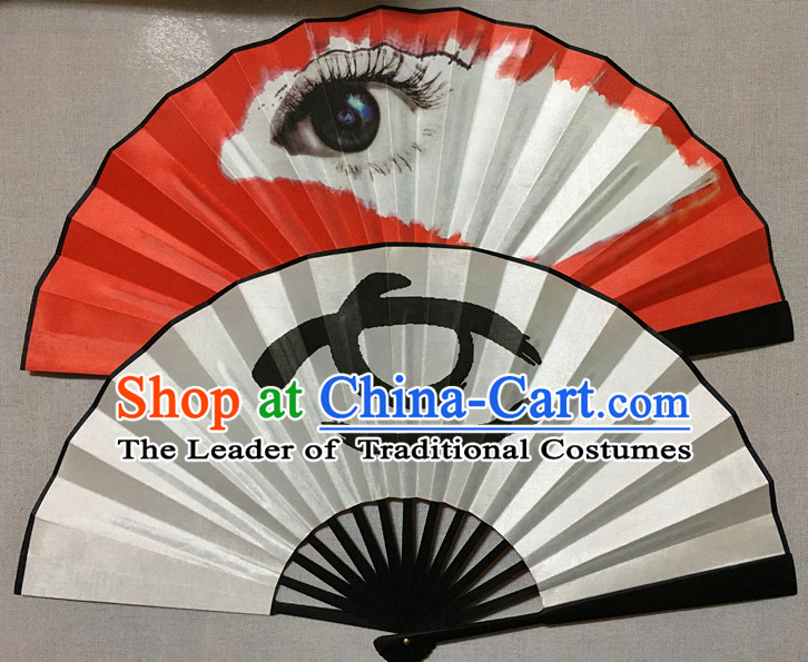 South Korea Style Two Sides Silk Dance Fan