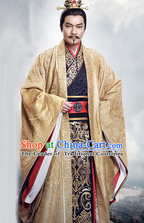 Ancient Chinese Emperor Royal Dresses Imperial Robe Clothes Complete Set