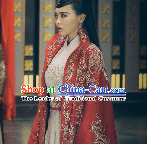 Ancient Chinese Imperial Embroidered Empress Royal Clothing Complete Set