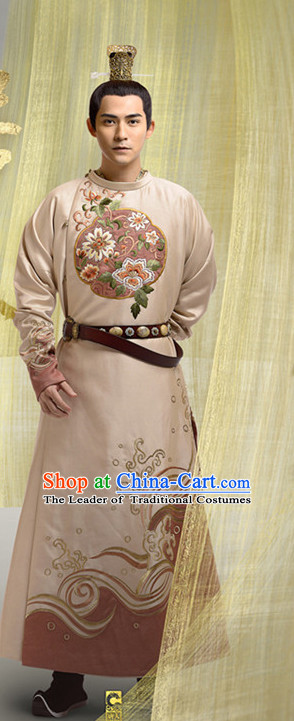 Asian Ancient Tang Dynasty Imperial Emperor Dragon Long Robes Clothing