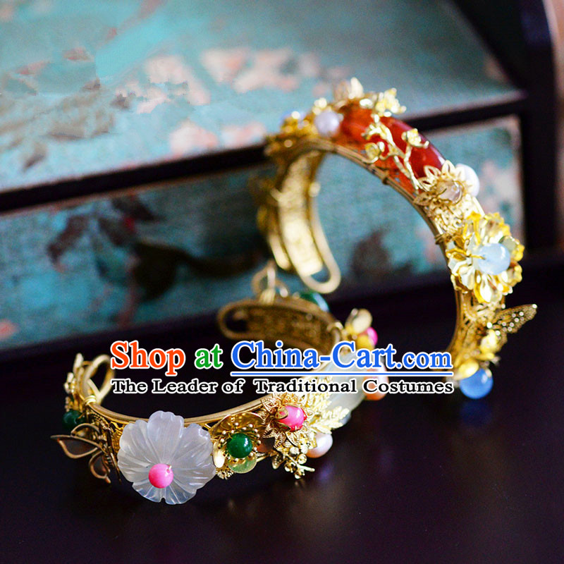 Chinese Ancient Style Accessories, Bracelet, Hanfu Xiuhe Suit Wedding Bride Bracelet, Dragon and Phoenix Bracelet for Women