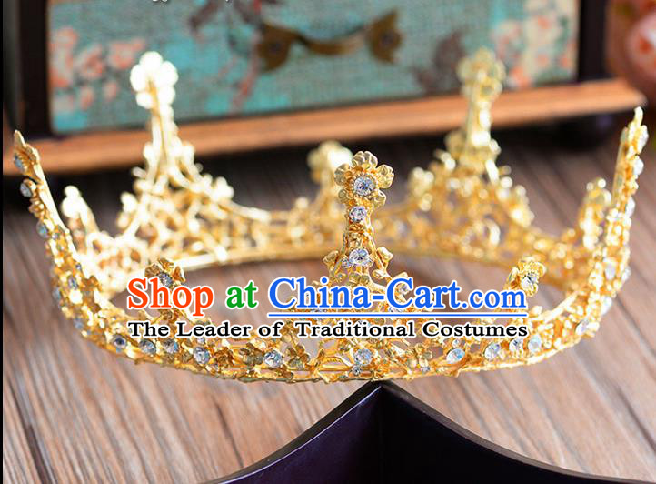 Traditional Jewelry Accessories, Queen Bride Royal Crown, Wedding Hair Accessories, Baroco Style Headwear for Women