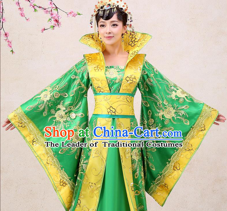 Ancient Chinese Palace Empress Costumes Complete Set, Tang Dynasty, Hanfu, Ancient Palace Queen Dress Suits For Women