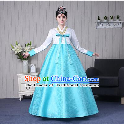 Korean Traditional Bride Dress Wedding Clothes Costumes Korean Ancient Clothes Wedding Full Dress Formal Attire Ceremonial Clothes Court Stage Dancing