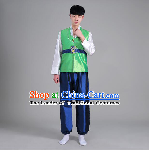 Korean Men Dancing Clothes High Quality Stage Costumes Traditional Costumes Korean Full Dress Formal Attire Ceremonial Dress  Dae Jang Geum