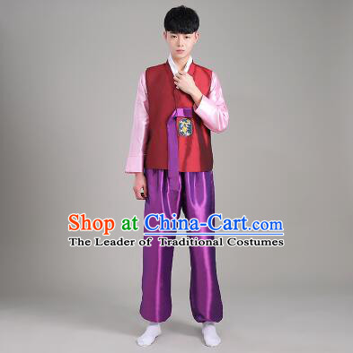 Korean Men Traditional Costumes Dancing Clothes Stage Costumes Korean Full Dress Formal Attire Ceremonial Dress  Dae Jang Geum High Quality