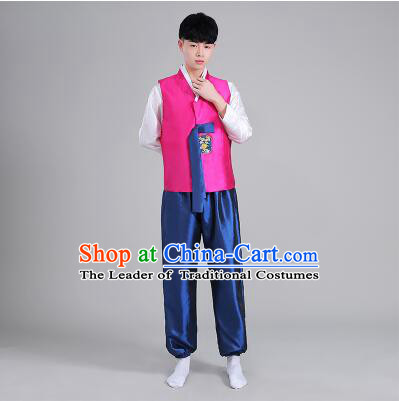 Korean Men Dancing Clothes Men Stage Costumes Traditional Costumes Korean Full Dress Formal Attire Ceremonial Dress  Dae Jang Geum High Quality