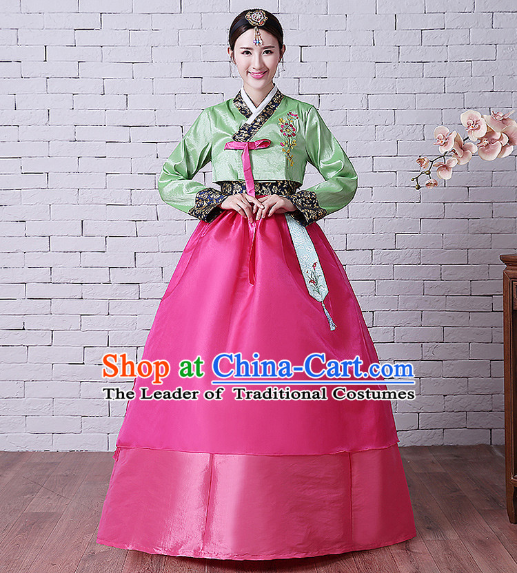 Korean Traditional Costumes Adult Women High Quality Ancient Clothes Wedding Dress Korean Full Dress Formal Attire Ceremonial Dress Court Stage Dancing