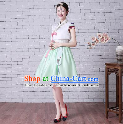 Korean Style Short Sleeves Summer Girl Clothes Wedding Full Dress Formal Attire Ceremonial Clothes Stage Dancing
