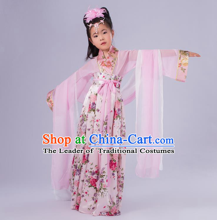 Ancient Chinese Palace Costumes Complete Set, Traditional Han Dynasty Ancient Palace Ru Skirt, Children Clothing, Cosplay Tang Dynasty Fairy Princess Dress Suits for Kids