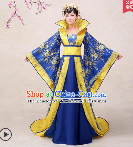 Ancient Chinese Palace Empress Costumes Complete Set, Tang Dynasty Ancient Palace Dance Clothing, Cosplay Fairy Imperial Consort Dress Suits For Women