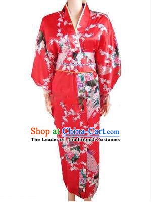 Japanese Traditional Kimono Costumes Women Dress COSPLAY Japanese Traditional Garment Wedding Dress Ceremonial Wafuku Stage Show Red