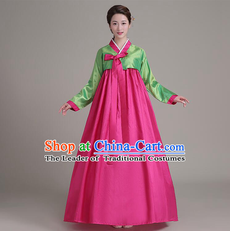 Dae Jang Geum Costumes Korean Traditional Costumes Dress Clothes Korean Full Dress Formal Attire Ceremonial Dress Court Stage Dancing  Green Top Red Skirt