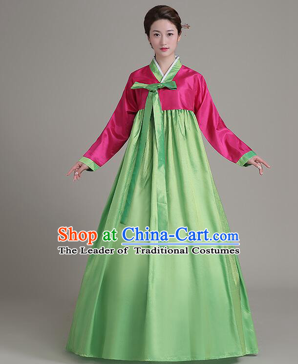 Dae Jang Geum Costumes Korean Traditional Costumes Dress Clothes Korean Full Dress Formal Attire Ceremonial Dress Court Stage Dancing Red Top Green Skirt