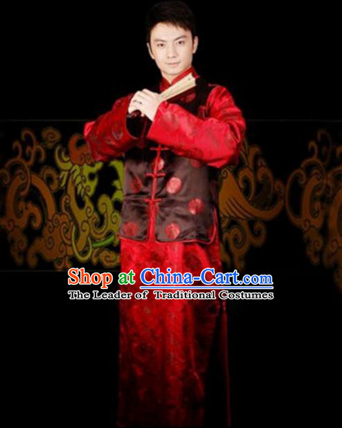 Chinese Wedding Dress Groom Full Attire Traditional Costumes Ancient Men Dress Complete Set