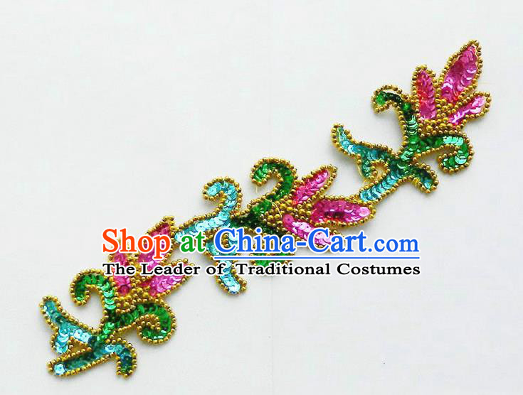 Traditional Chinese Yangge Hair Accessories, Fan Dancing Headwear, Folk Dance Yangko Peacock Dance Headdress, Stage Accessories Minimum Purchase 10