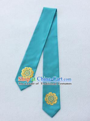Korean Hair Band for Women Hair Strap Ties Headwrap Kerean Traditional Hot Stamping Bronzing Blue