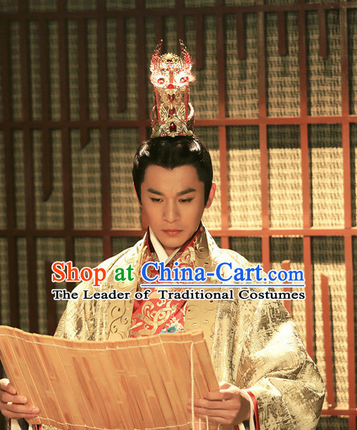 Chinese Ancient Stage Performance Prince Hat Headdress