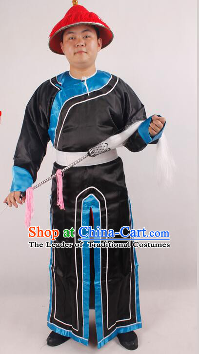 Acient Qing Dynasty Costume Eunuch Clothing Bodyguard Main Harem Zhen Huan Sketch Costumes For Men