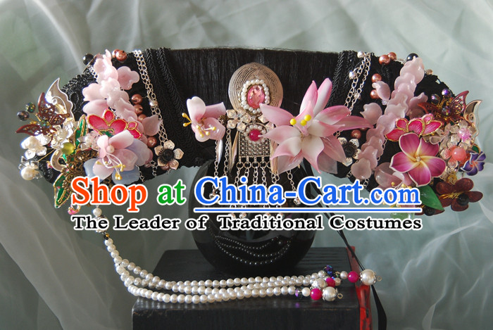 Chinese Ancient Style Hair Jewelry, Qing Dynasty Imperial Empress Handmade Phoenix Wig and Hair Accessories, Zhenhuan Hairpins, Headwear, Headdress, Hair Fascinators for Women
