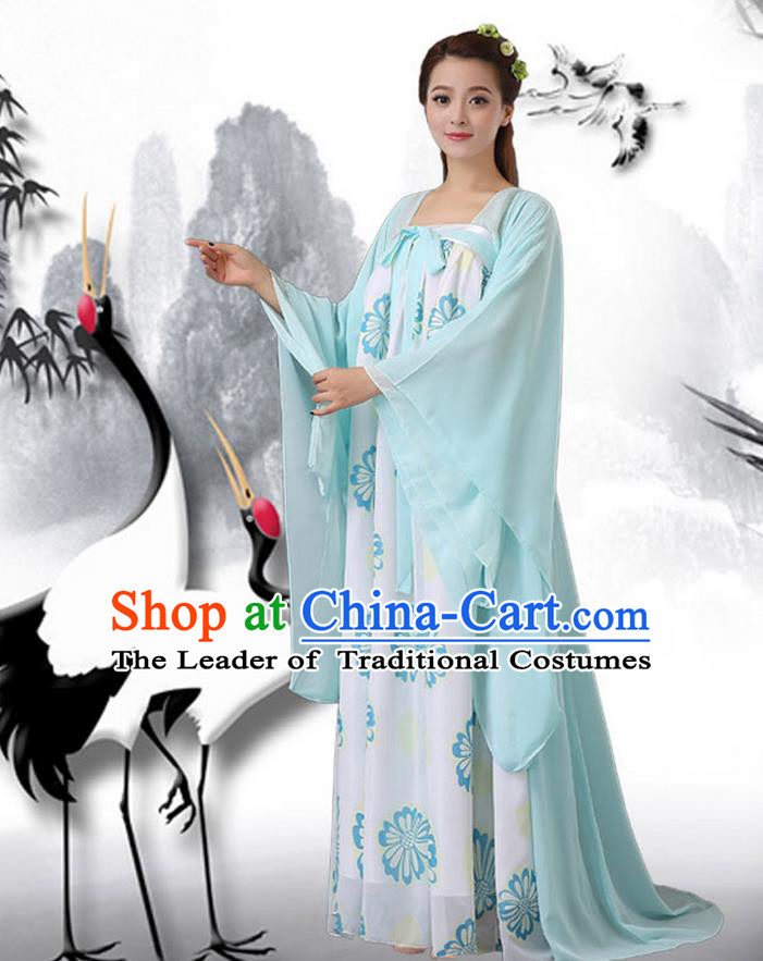 Ancient Chinese Palace Empress Costumes Complete Set, Hanfu, Han Dynasty Ancient Palace Fairy Princess Dress Suits For Women