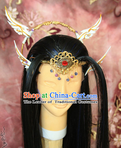 Ancient Chinese Prince Emperor Headwear Headpieces Hair Accessories Set