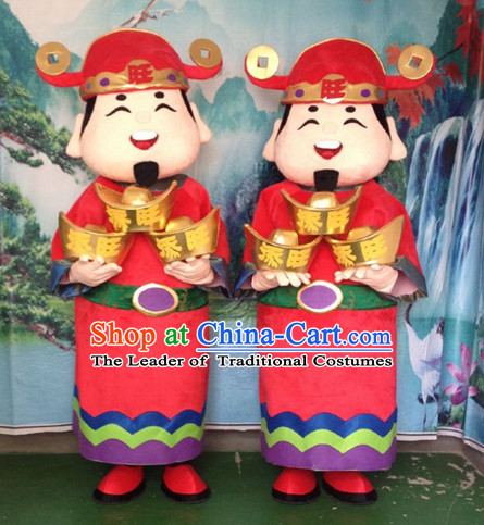 Mascot Uniforms Mascot Outfits Customized Walking Money God Cai Shen Mascot Costumes Mascots Costume
