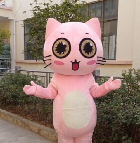 Mascot Uniforms Mascot Outfits Customized Walking Animal Kitty Cat Mascot Costumes Mascots Costume
