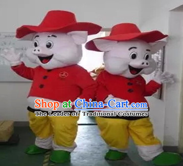 Mascot Uniforms Mascot Outfits Customized Walking Animal Mascot Costumes Pig Mascots Costume