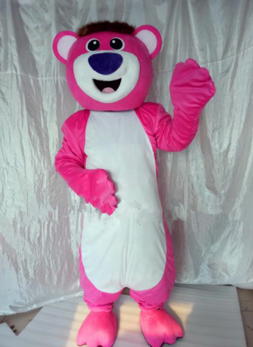 Mascot Uniforms Mascot Outfits Customized Walking Mascot Costumes Cartoon Pink Leopard Mascots Costume