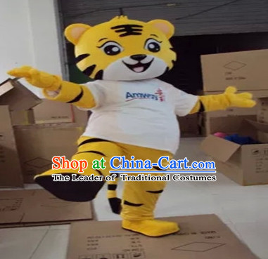 Mascot Uniforms Mascot Outfits Customized Walking Mascot Costumes Animal Cartoon Cute Tiger Mascots Costume