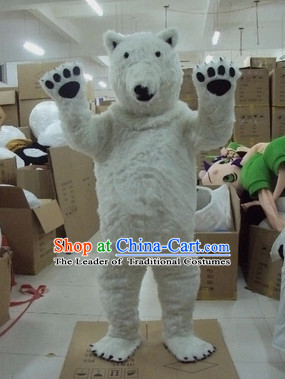 Mascot Uniforms Mascot Outfits Customized Walking Mascot Costumes Animal Cartoon Polar Bear Mascots Costume
