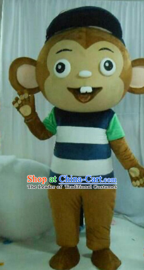Professional Custom Mascot Uniforms Mascot Outfits Customized Animal Cartoon Character Walking Monkey Mascot Costumes