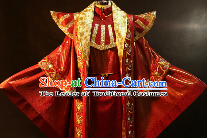 Chinese Ancient Emperor Prince Cosplay Costumes Complete Set for Men
