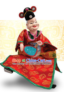 Traditional Chinese Handmade City Gatekeeper Glove Puppet Hand Puppets