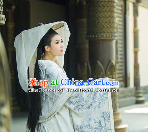 Ancient Chinese Empress Queen Princess Clothes and Hair Accessories Complete Set