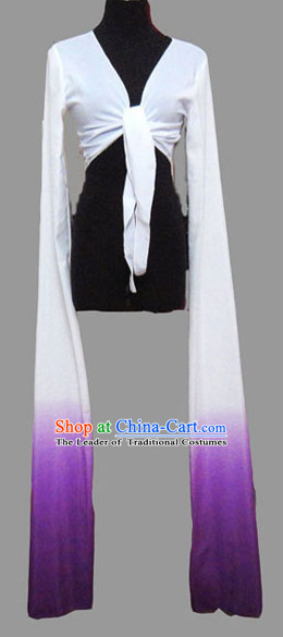 White to Purple Chinese Classic Water Sleeve Dance Costumes for Women or Girls